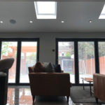 aluminium bifolding doors with integral blinds oxford