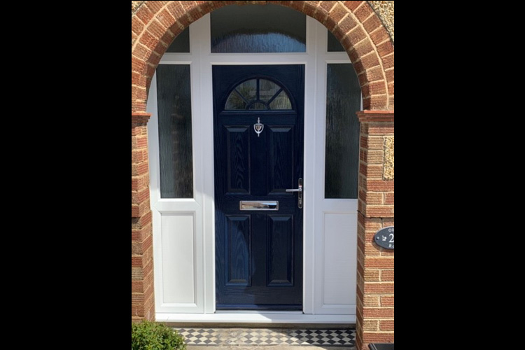 Composite Front Door with Side lights external Cowley